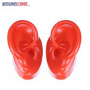 red-silicone-ear-model