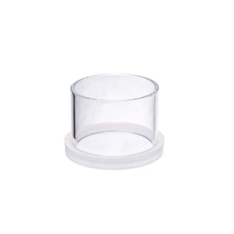 Large size transparent casting ring with removable bottom part